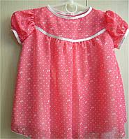 Платье для девочки коралловое р. 74, 80, 86,92