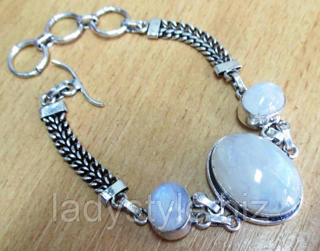купить колье ожерелье натуральный лунный камень украшения