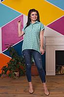 f4ac365cf4f Рубашка удлинённая сзади женская в расцветках 28666