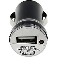 Зарядное устройство TOTO TZZ-54 Car charger 1USB 1A Black (F_52814)