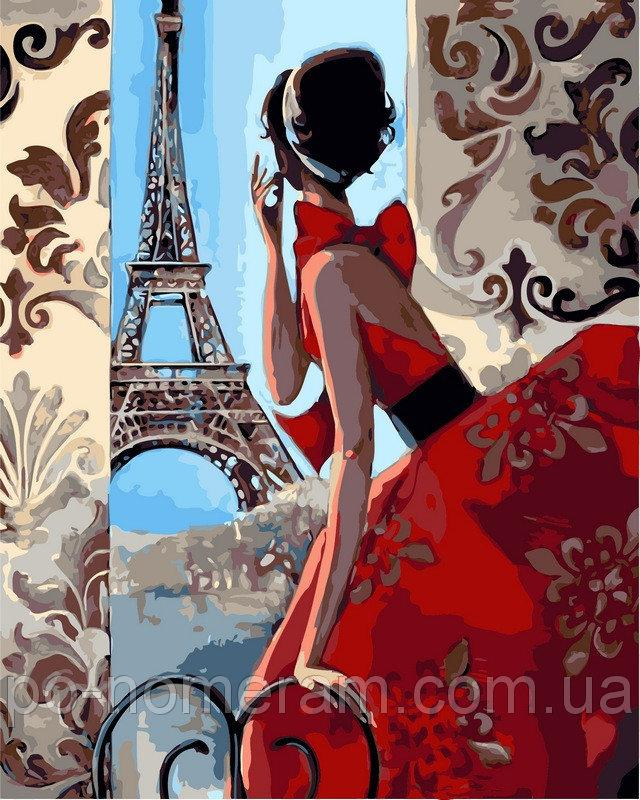 Картина по номерам VP341 Утро в Париже 40х50