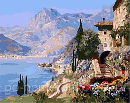 Картина по номерам VP394 Средиземноморский пейзаж 40х50