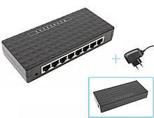 Коммутатор сетевой 8-портовый RJ45 свич свитч switch 10/100 Мб/с