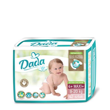 Подгузники Dada Extra soft 4+ MAXI+ / 42 шт. / 9-20 кг