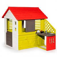 Smoby Игровой детский домик Солнечный с летней кухней