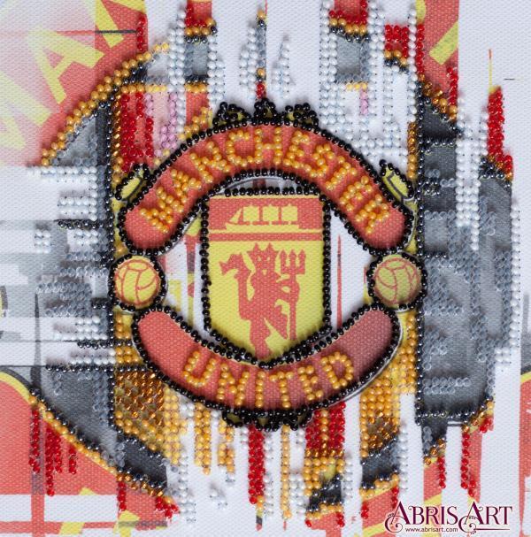 Набор-мини для вышивки бисером на натуральном художественном холсте ФК Манчестер Юнайтед