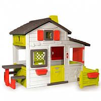 Smoby Игровой детский дом с чердаком и дверным звонком для друзей