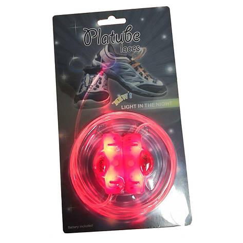 Светящиеся шнурки - Красный, фото 2