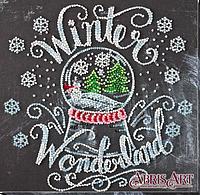 Набор-миди для вышивки бисером на натуральном художественном холсте Зима чудес