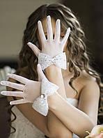 Свадебные перчатки с пальцами (П-п-1)