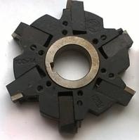 Фреза дисковая 3-х стор. с механическим креплением ромбических пластин 100х14х27 z=6