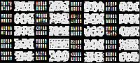 Набор трафаретов 20 шт. для nail art №4, фото 1