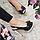 Босоножки женские из натуральной кожи на высоком каблуке шпилька и платформе черный, фото 4