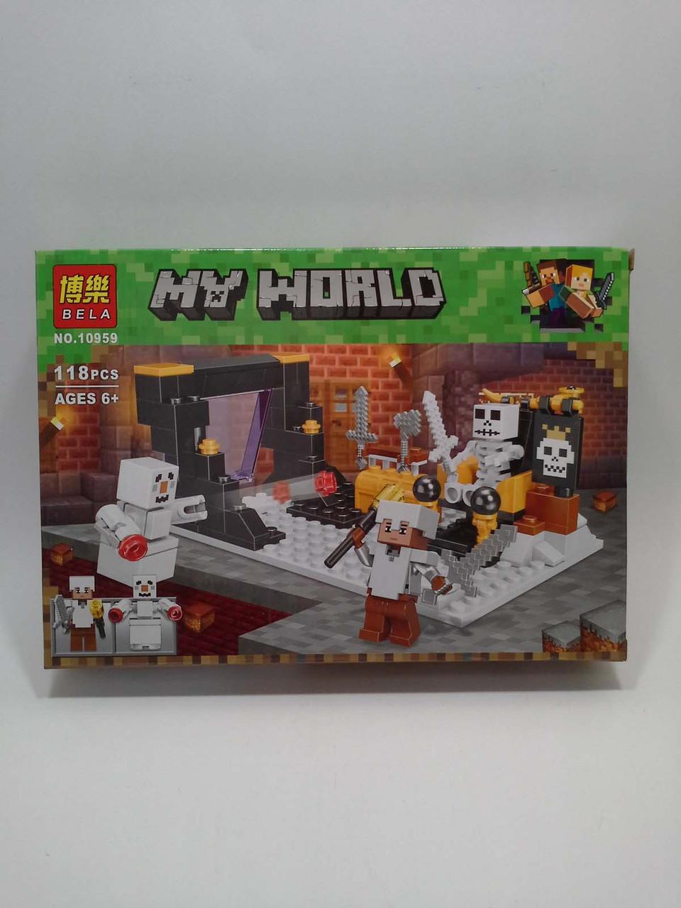 Игра Лего Bela My World (10954-10959) 6шт в блоке Майнкрафт