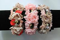 Венок из цветов на голову ручной работы