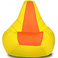 "Бин-бэг кресло-груша, ткань Oxford 600 Den, размер 100х80 (желтый/оранжевый) ""Экспрессия"""