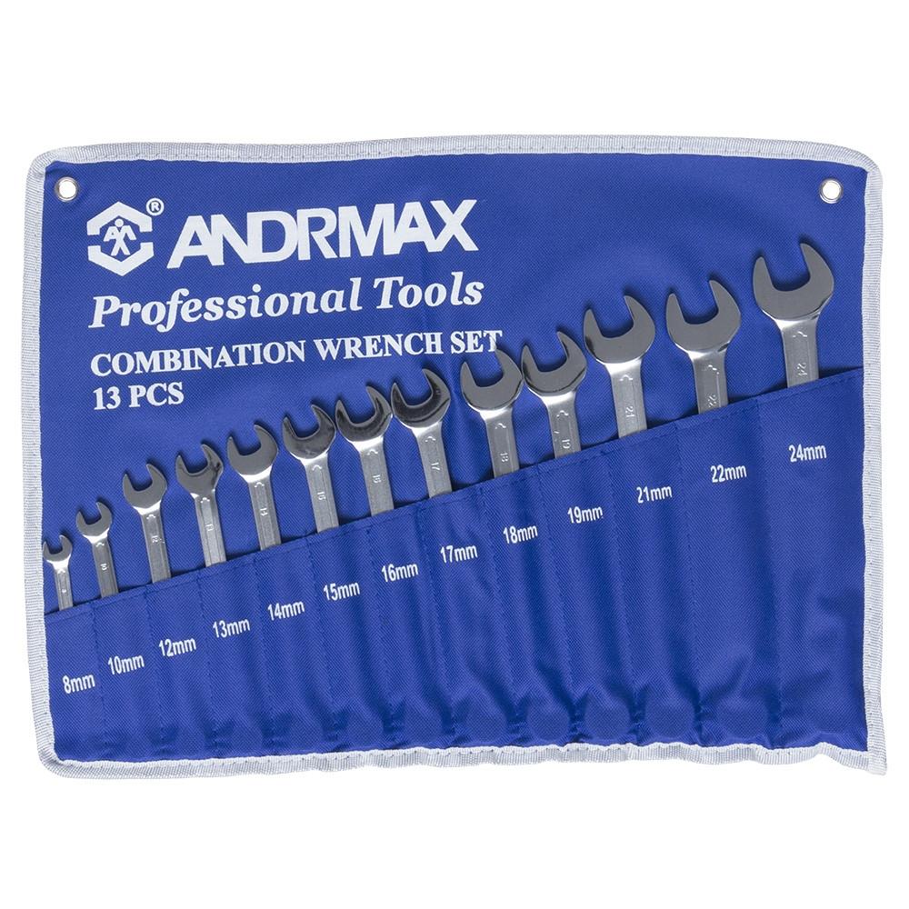 Набор ключей комбинированных, 13 предметов ANDRMAX