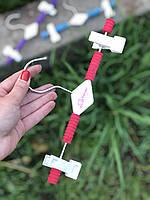 Детские плечики вешалка 26см  с прищепкой и цветным поролоном, фото 1