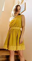 Платье Nova Line-5894-1 белорусский трикотаж, желтый, 42