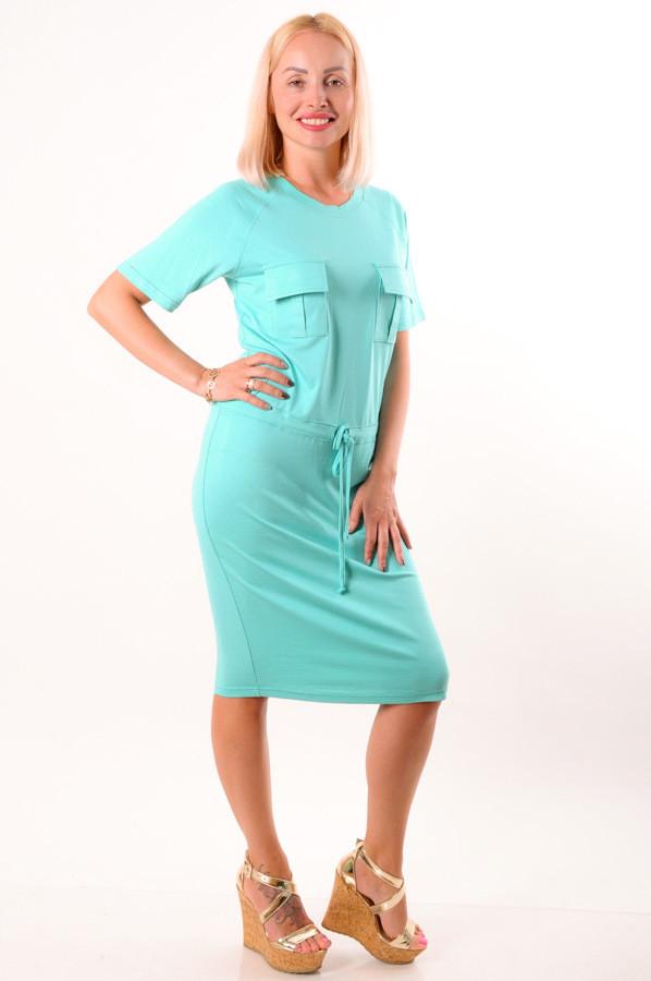 Женское летнее платье мята размеры 40 - 48