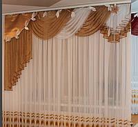 Легкий ламбрекен для зала фото, фото 1