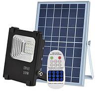 Светодиодный прожектор 10W на солнечной батарее с пультом. Фонарь солнечный