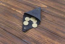 Монетница кожаная ручной работы VOILE cn1-blu, фото 2