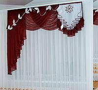 Шифоновые ламбрекены для гостинной, фото 1