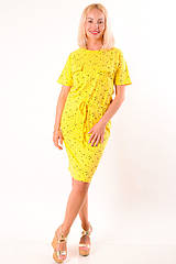 Женское летнее платье желтое размеры 40-48