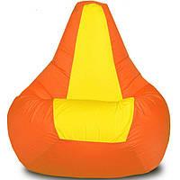 "Бин-бэг кресло-груша, ткань Oxford 600 Den, размер 100х80 (желтый/оранжевый) ""Стелла"""
