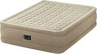 Надувная велюровая кровать Intex (64458),203-152-46,с электро-насосом