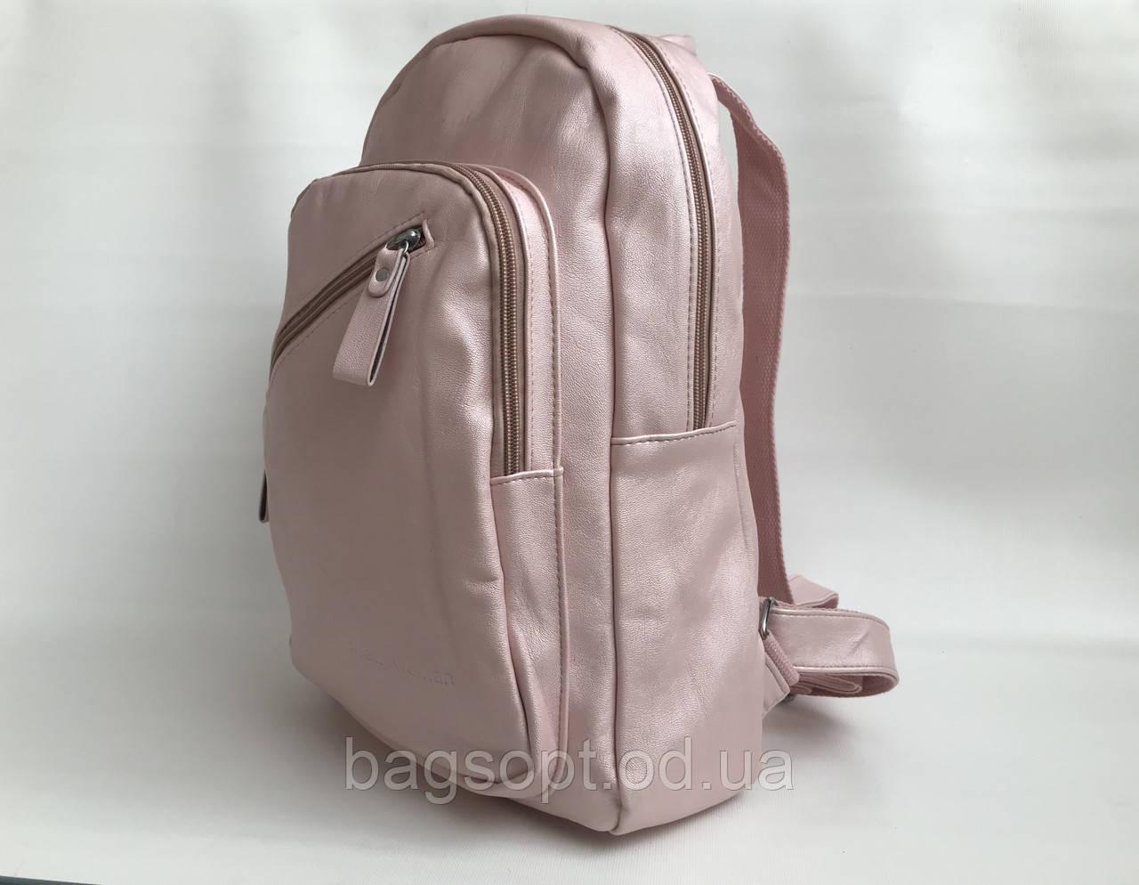 Рюкзак розовый молодежный из экокожи женский вместительный для девушек Pretty Woman Одесса