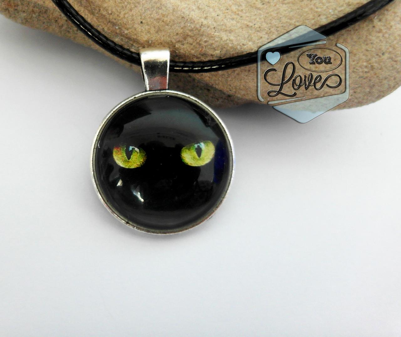 Кулон Черный кот Черная кошка