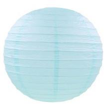 Бумажный шар плиссе 20 см нежно-голубой