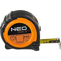 Рулетка NEO стальная лента 5 м x 25 мм, магнит (67-115)