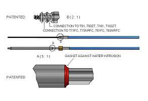 Трос рулевой Ultraflex M90 Mach