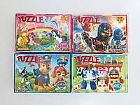 Пазлы 80 элементов микс №1 (16 шт в блоке) Любимые герои мультфильмов