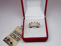 """Золотое женское кольцо """"Корона"""". Размер 18,5"""
