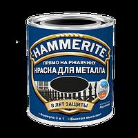 Hammerite молотковая краска по металлу Черная 0,75 л, фото 1