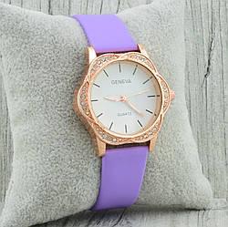 Часы G-091 диаметр циферблата 3.4 см, длина ремешка 17-21 см, фиолетовый цвет, позолота РО