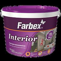 """Краска Farbex интерьерная высококачественная """"Interior"""" (Интериор), 18 кг (База С)"""