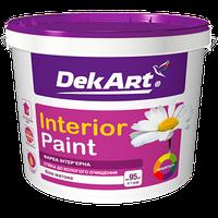 """Матовая акриловая краска """"Interior Paint"""" ТМ """"DekArt"""" для стен и потолков, 4кг (белая)"""
