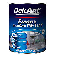 Эмаль ПФ-115П Dekart вишнёвая 0,9кг, фото 1