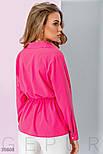 Удлиненная рубашка с завязками на поясе фуксия, фото 3