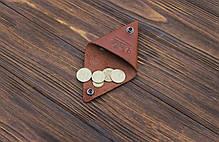 Монетница ручной работы из кожи Краст VOILE cn1-kcog, фото 2