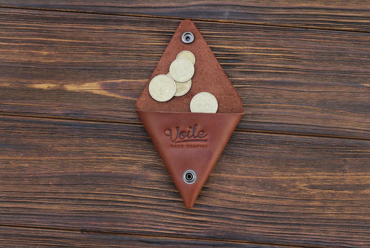 Монетница ручной работы из кожи Краст VOILE cn1-kcog