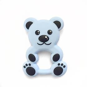 Медвежонок (беби блю) силиконовый прорезыватель для зубов