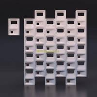 Гипсовые 3D перегородки Куб Штука