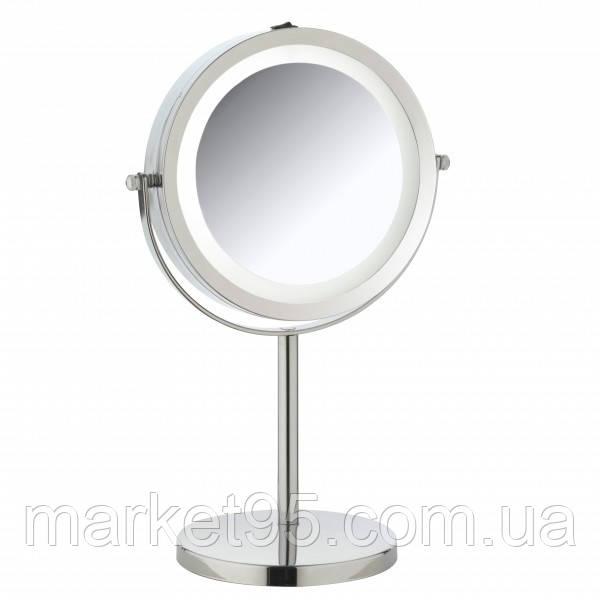Зеркало косметическое с подсветкой Ø17 СМ