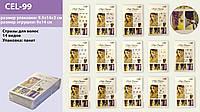 """Косметика """"Стразы для волос"""" CEL-99 (600шт)14 видов,для волос,в пакете 14*9см"""